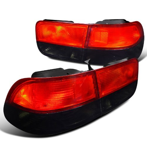 Spec-D Tuning LT-CV962RG-RS Honda Civic Coupe 2Door Crystal Red/Smoke Rear Tail Brake Lights Pair