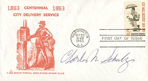 - Charles M. Schulz - First Day Cover Signed