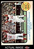 1973 O-Pee-Chee # 208 1972 World Series - Game #6 - Reds' Slugging Ties Series Johnny Bench / Denis Menke / Bobby Tolan Oakland / Cincinnati Athletics / Reds (Baseball Card) Dean's Cards 4 - VG/EX Athletics / Reds