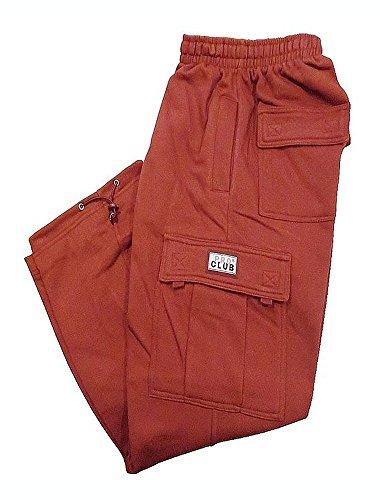 Pro Club Fleece Cargo Sweatpants 13.0oz 60/40 5XL Burgundy