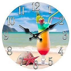 Sea Creations 13 Glass Beach Drink Clock