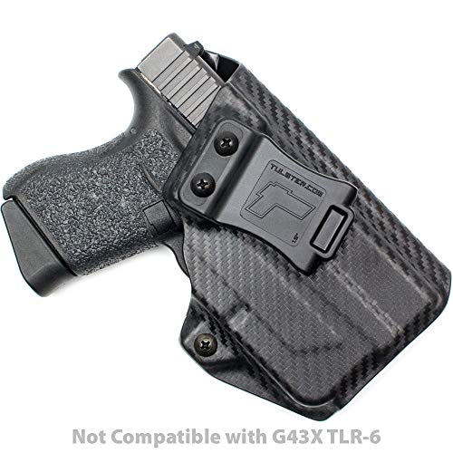 Tulster Glock 43 w/TLR-6 Holster IWB Profile Holster (Black Carbon Fiber - Right Hand)