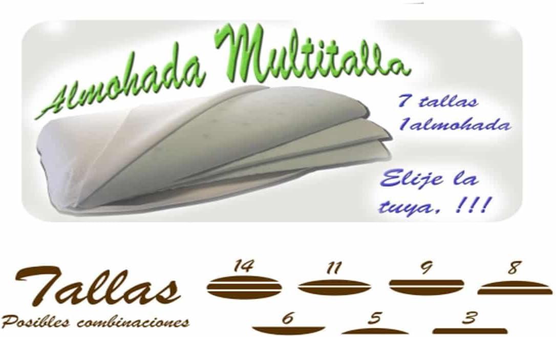 LAMALIT - Almohada viscelástica Regulable en Altura por Capas Sensactive 90 Suave: Amazon.es: Hogar