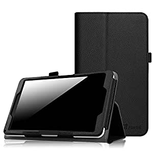"Fintie NuVision 8 Inch Tablet Case - Premium PU Leather Folio Cover with Stylus Holder for 2016 NuVision TM800W560L/2017 NuVision TM800P610L/Solo 8"" TM800W610L/TM800W630L Windows Tablet, Black"