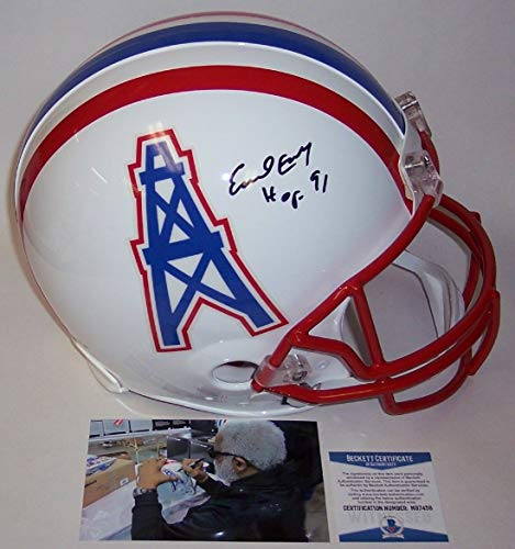 Earl Campbell Autographed Hand Signed Houston Oilers Full Size Authentic Helmet - BAS Beckett
