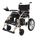 Electric Powered Wheelchair Lightweight 34.5Kg Portable Folding Heavy Duty Mobility Scooter,Motorized Wheelchair,Seat Width 45Cm