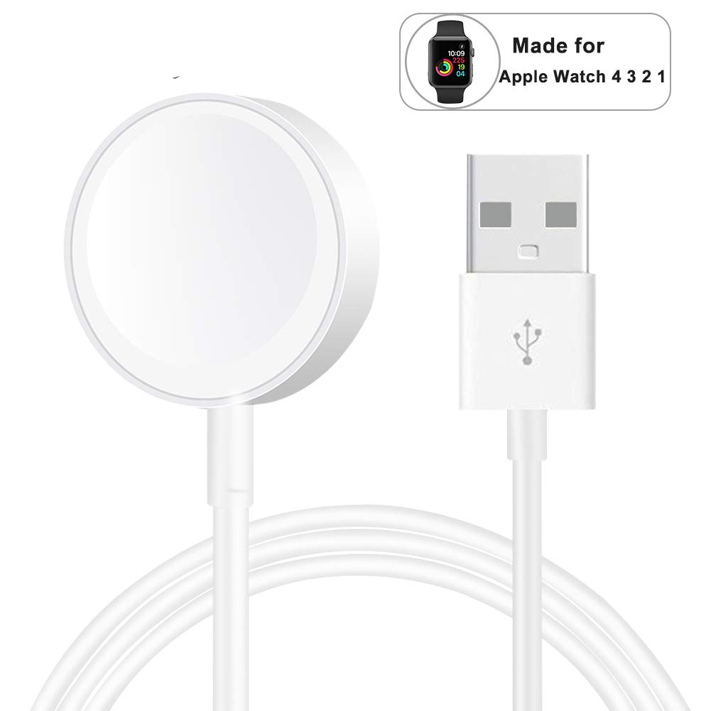 Compatible with Apple Watch iwatch Magnetic Wireless Charger Pad Charging Cable Cord Compatible with for Apple Watch iwatch 38 mm 40mm 42 mm 44mm Series 1 2 3 4 by WowTowel
