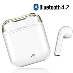 Auriculares Bluetooth, Auriculares inalámbricos Bluetooth 4.2 Auriculares estéreo Auriculares con...