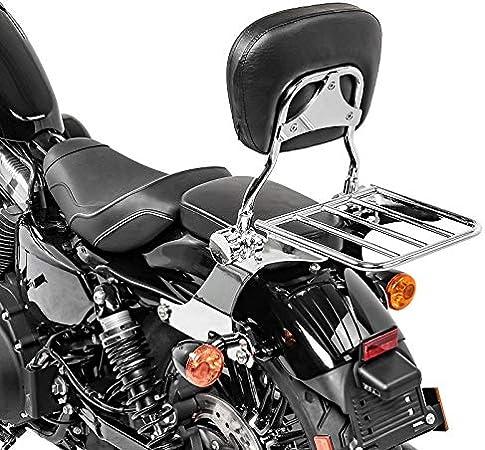 Sissy Bar porte bagages H3 pour Harley Sportster 1200 CA Custom 13-16 chrome