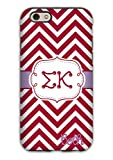 Sigma Kappa Sorority Gift Idea - Case Fits Iphone 6s Case - Maroon Chevron with Lavender - Personalized Protective Cover for the Iphone, Big and Little Gift