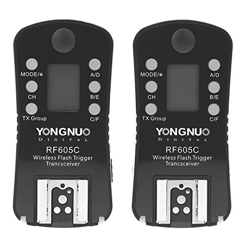 Hyx ShutterContro for camrea YONGNUO RF605C 2X Wireless Flash Trigger + 2X LS-2.5 Shutter Connecting Cable for Canon Camera, Black by Hyx