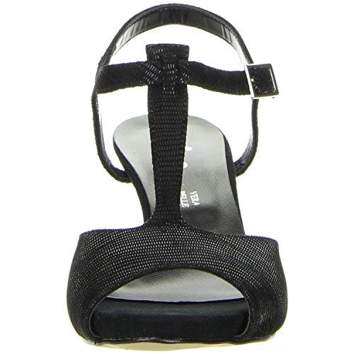 Vista Damen T-Steg-Pumps schwarz Schwarz