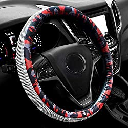 Camouflage Steering Wheel Cover with Bling Rhinestones