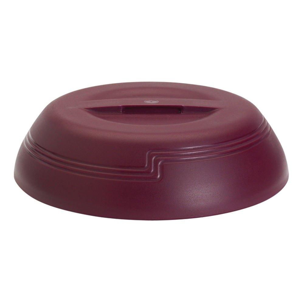 Cambro Shoreline Collection Low Profile Cranberry Plastic Insulated Dome - 10 3/8 Dia x 2 3/4 H
