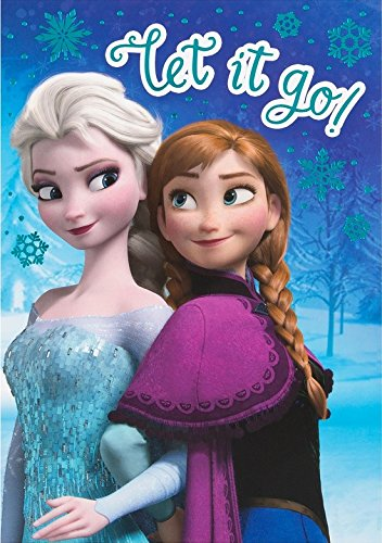 Disney Frozen Elsa and Anna Birthday Card Let It -
