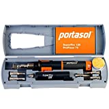 "Portasol 010589330 Super Pro 125W Heat Tool Kit with 7 Tips, 12"", Gray/Orange"