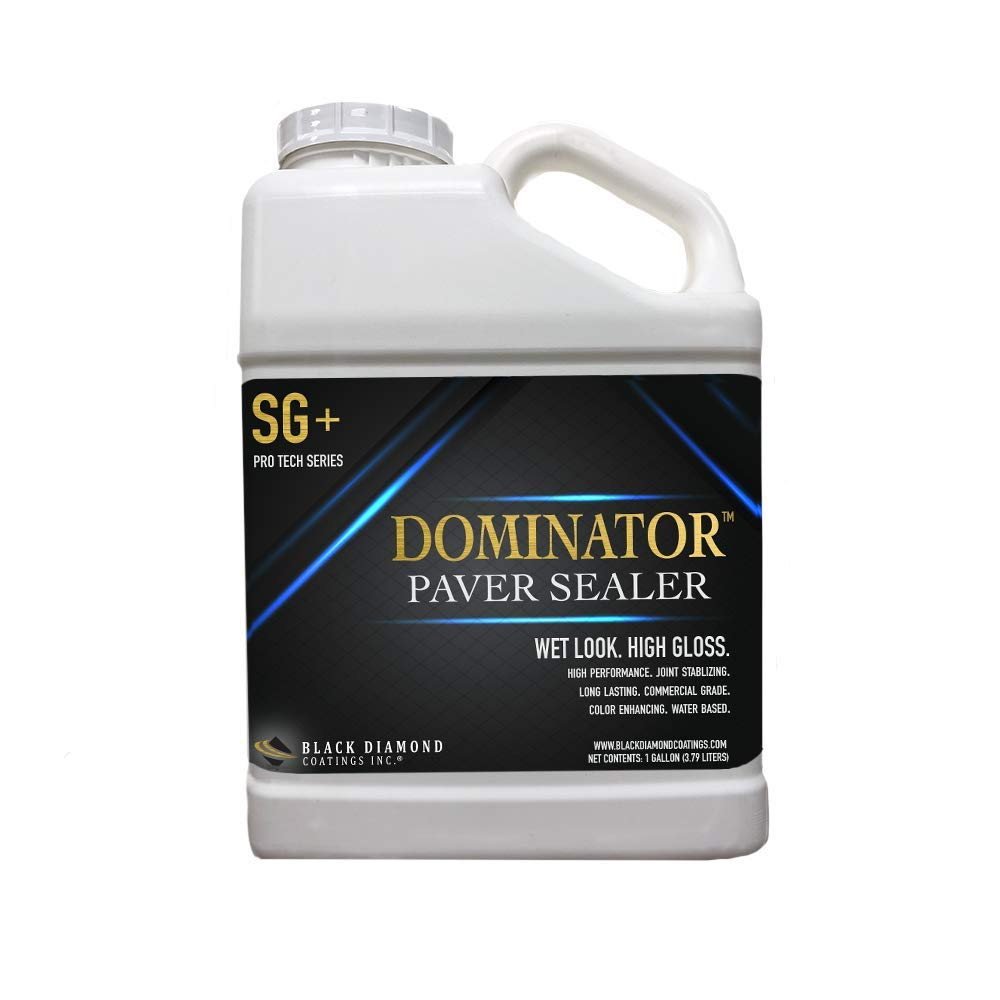 1 Gallon DOMINATOR SG+ High Gloss Paver Sealer (Wet Look) - Contractors' Choice, Solvent Free