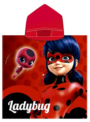 Ladybug Miraculous Hooded Bath Towel,Beach,Pool,Poncho ,Officially Licensed by Miraculous Ladybug
