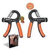 MegaMetz Hand Grip Strengthener Set, x2 Hand Strengthener, Adjustable Resistance Range 10-40 KG,...