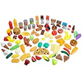 Pretend Food Toy Play Set - Huge 125 Piece Ultimate Kitchen Set - Great for Imaginative Play