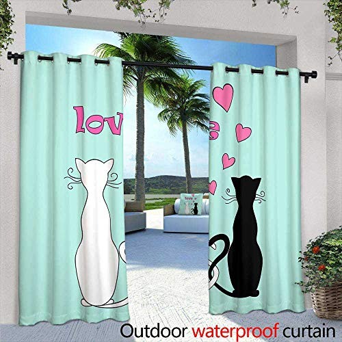 Outdoor- Free Standing Outdoor Privacy Curtain,flat map of world with animals living in different parts of vector illustration continents,,W108