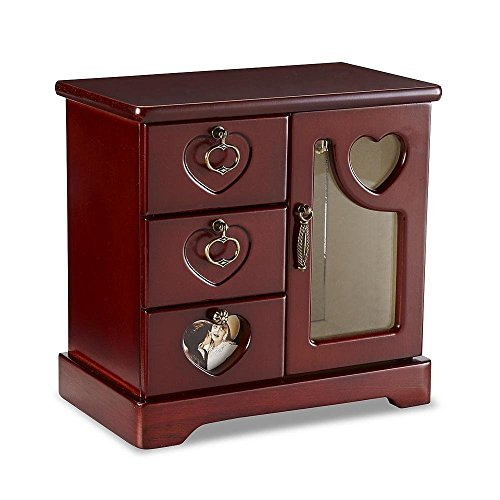 Jaclyn Smith Wooden Jewelry Box The Best Amazon Price In Savemoneyes