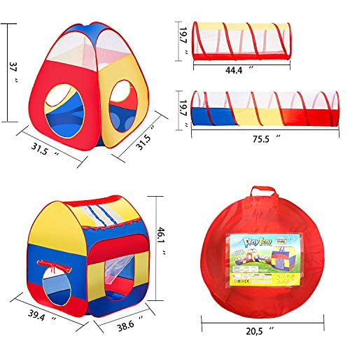 Icorer Extra Large Kid Tent 4pc Pop Up Children Play Tent