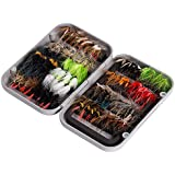 Bassdash Fly Fishing Flies Kit Fly Assortment with Fly Box
