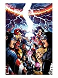 Avengers Vs. X-Men No.1 Cover: Captain America, Cyclops, Emma Frost, Gambit and Others Screaming Art Poster Print by Jim Cheung, 18x24