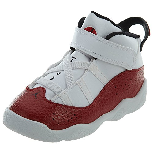 newest ac2fd 2cc7c NIKE Toddler Jordan 6 Rings Basketball Shoes White/Black-Gym Red 8C