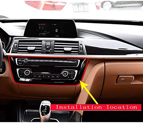 TOOGOO Garniture De Cadre De D/écoration De Centre en Plastique De Style ABS De Fibre De Carbone pour BMW S/érie 3 4 GT F30 F32 F34 2013-2018