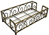 Boston International Guest Towel Caddy, Avalon Design in Gold Leaf