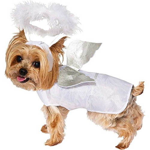 Forum Novelties Angel Dog Costume, White, Medium