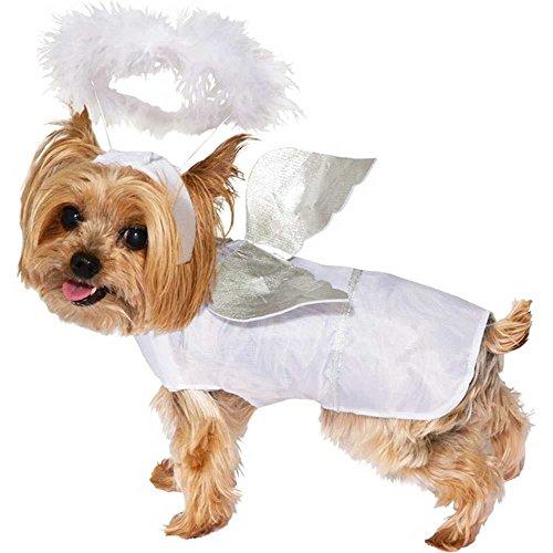 Angel Dog Costume, White, -