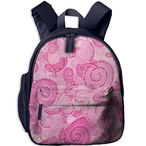 Billet Badge (Pink Ribbon Durable Book Bag Cute Animal Kid's School Daypack Outdoor Children Kindergarten Backpacks 12.5