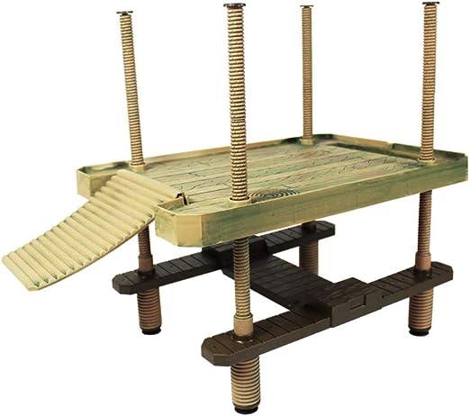 WYBFBYD Turtle Turtle Pier Plataforma para el Sol con Escalera de rampa, Muelle de Tortuga acuática, casa de Mascotas de rampa de Reptil: Amazon.es: Productos para mascotas