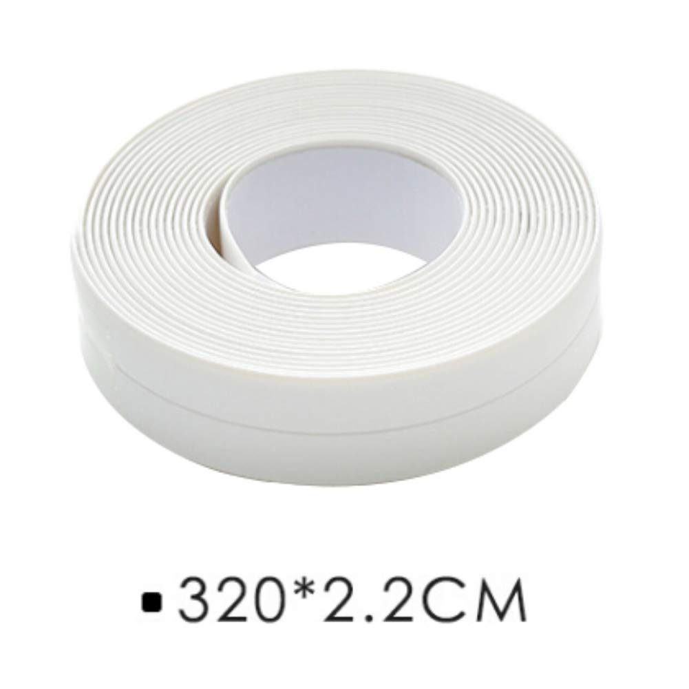 Escolourful Caulk Strip Self Adhesive Tape for Bathroom Shower Toilet Kitchen and Wall Sealing