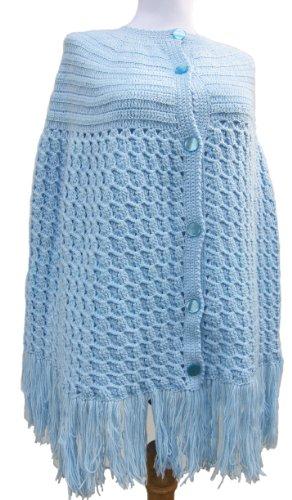 Handmade Maternity Poncho - Celestial Blue (100% Crocheted By Hand)(CUSTOM MADE)