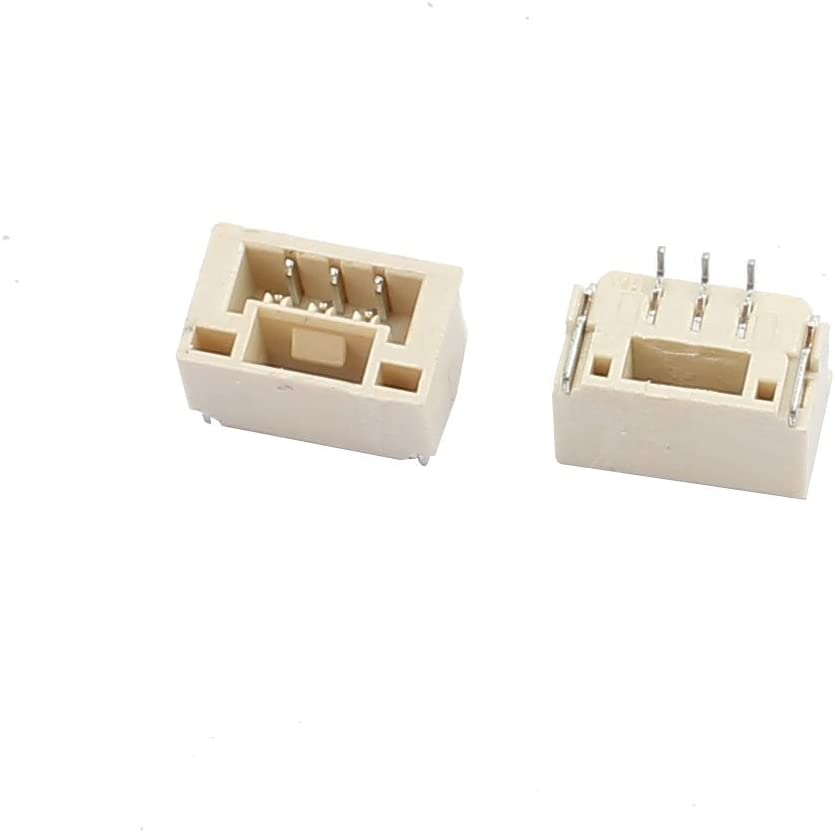 sourcing map 20Pcs Parche Bloqueo W conector horizontal paso 1,25 mm 3P GH sustituto JST
