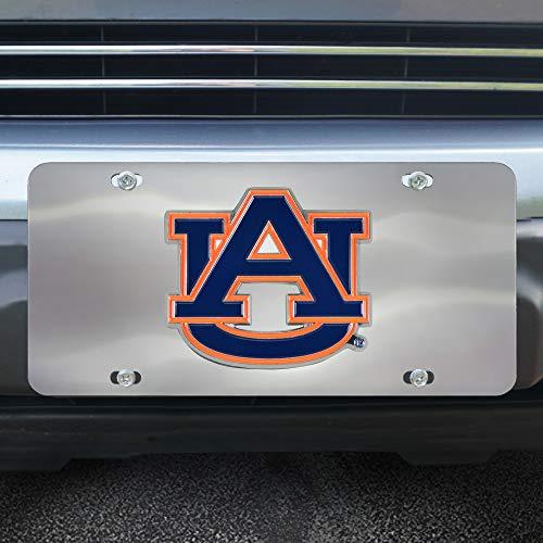 FANMATS NCAA Auburn Tigers Die Cast License Platedie Cast License Plate, Chrome, 6