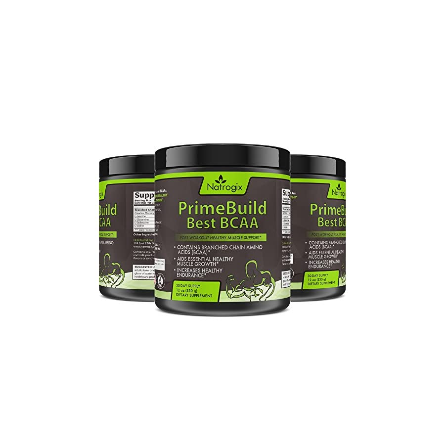 Natrogix 3 In 1 Post Work Out Muscle Builder with BCAA