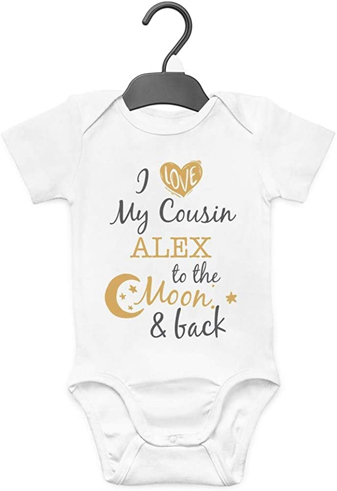 Personalised ANY NAME My Cousin Rocks Cute Boys Girls Baby Vest Bodysuit
