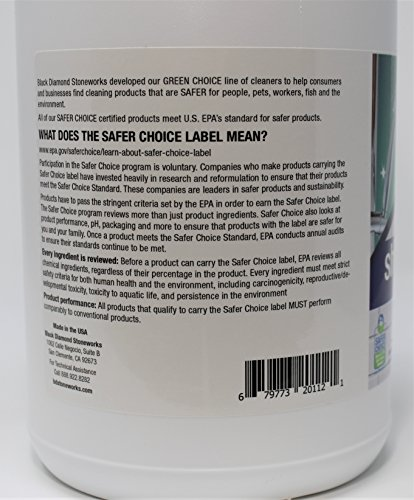 GREEN CHOICE Shower Tub Tile Glass Bathroom Cleaner- EPA Green Certified, Professional Strength, Removes Soap Scum Calcium and Hardwater Deposits. by Black Diamond Stoneworks (Image #2)