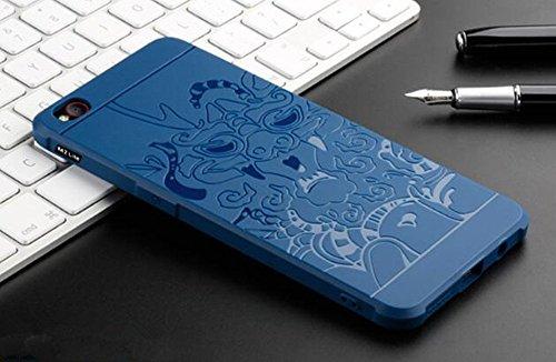 ZTE nubia M2 Lite Funda, Calidad Premium Cubierta Delgado Caso de TPU Silicona Funda Protective Case Cover para ZTE nubia M2 Lite Dragón azul