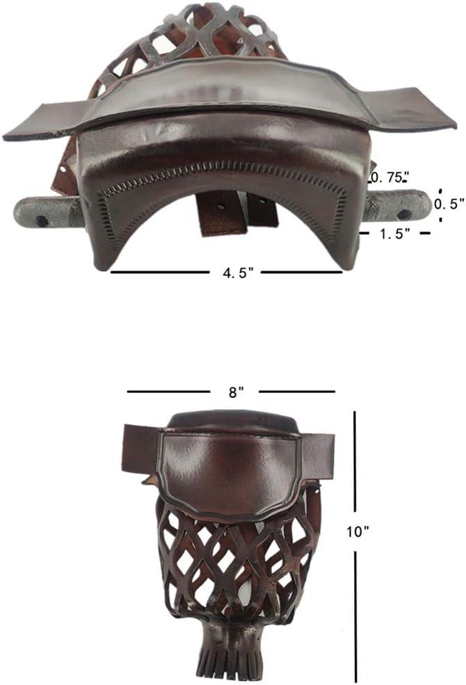 Joys Billiard Set of 6 Leather Pool Table Billiard Pockets Classic Smooth Shield Dark Walnut