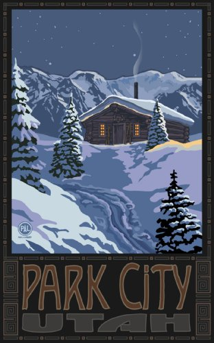 Northwest Art Mall Park City Utah Winter Mountain Cabin Artwork by Paul A Lanquist, 11-Inch by - City In Park Mall Utah
