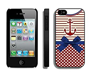BINGO Best price Anchor Chevron Retro Vintage Tribal Nebula Pattern iPhone 4 4S Case Black Cover