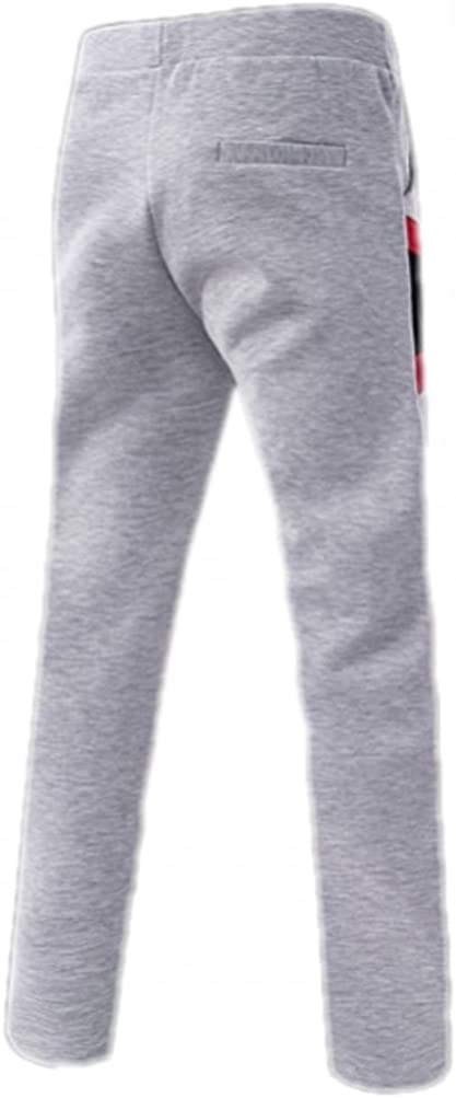 Free2mys Mens Contrast Color Slim Sweatpants Straight Leg
