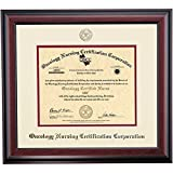 Campus Linens Oncology Nursing Certification Corporation Certificate Frame Ivory Maroon Matting Embossed Seal