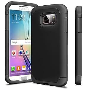 Galaxy S7Edge Funda, J. West [esquina protección] Slim delgada carcasa híbrida de doble capa impacto absorción de golpes resistir para Samsung Galaxy S7Edge